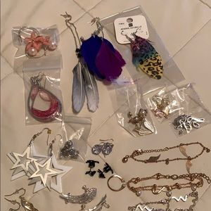 Multiple bundle of jewelry and etc